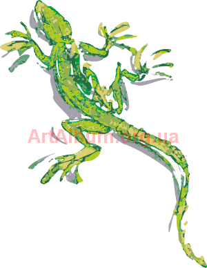 Clipart aquarelle lizard