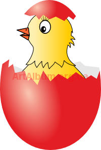 Clipart chicken in egg