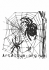 Clipart cross spider