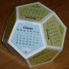 Clipart dodecahedron calendar for 2015 year