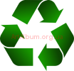 Clipart recycling sign