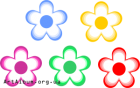 Clipart 5 flowers