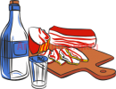 Clipart bottle and salo