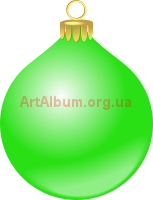 Clipart green Christmas ball