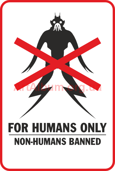 Clipart for humans only