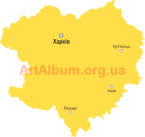 Clipart Kharkiv region map