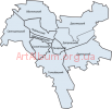 Clipart boundaries of districts of Kyiv (ukrainian)