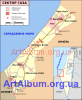 Clipart map of the Gaza Strip
