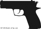 Clipart silhouette of pistol Fort 12