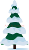 Clipart spruce under snow