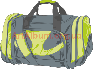 Clipart gray bag
