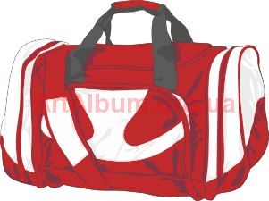Clipart red-white bag