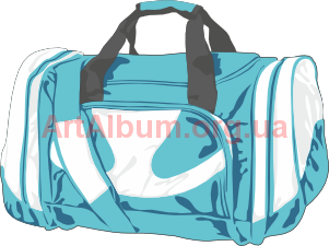 Clipart sky-blue bag