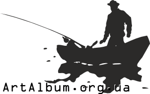 Clipart silhouette of fisherman in a boat
