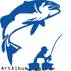 трафарет рыбки для рыбалки