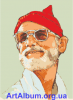 "Clipart poster for film ""The Life Aquatic with Steve Zissou"""