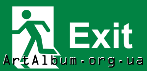 Clipart evacuation sign (exit)