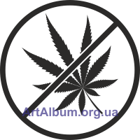 Clipart sign no cannabis
