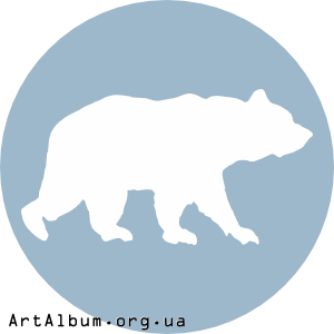 Clipart icon with bear