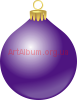 Clipart violet Christmas ball